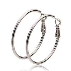 Silver Hoop Earrings Smooth Classic Style!